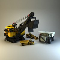 3dsmax 4 mining vehicles
