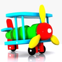 3d airplane plane toon