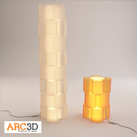 acrylic modular lamp lighting 3d model