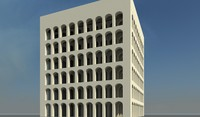 3d model architectural square colosseum rome