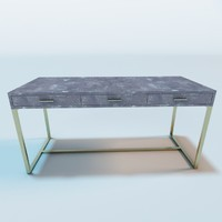 gray shagreen desk 3d model