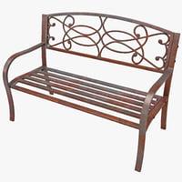 3d model steel scrollwork bench