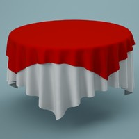 cloth tablecloth table 3d model
