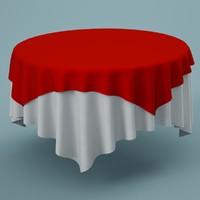 cloth tablecloth table 3d model