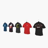t-shirts polys 3d model