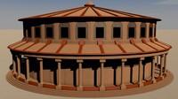 temple 3d dxf