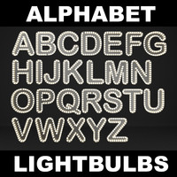lightbulb letters 3d model