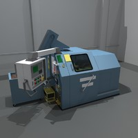 coin stamp machine 3d model