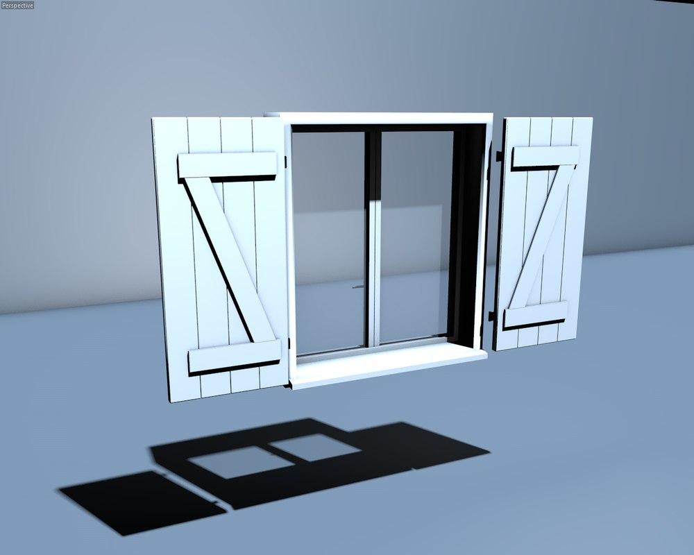 Free window 3d model for Window 3d model