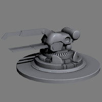 3ds max turret cannon