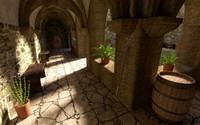 obj monastery garden exterior