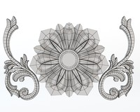 decorative carving molding 3d max