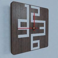 3d model of contemporary wall clock design