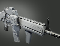 assault rifle 3d obj