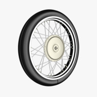 3d model motorcycle wheel spokes tire