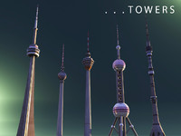 3d towers cn berlin model