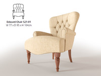 3ds max accent chair edward parker