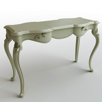 table console wooden 3d 3ds