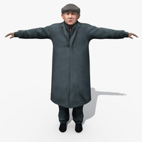 3d model of asian man