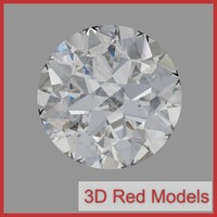 cut diamond 3d obj