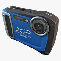 3d model fujifilm xp170 compact digital camera