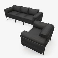 3ds max modern sofa armchair