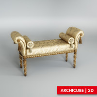 3d classic bench model