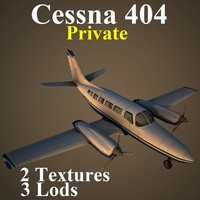 3d cessna 404 private pvt