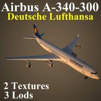 airbus dlh 3d max