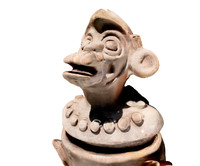 Ancient aztec monkey replica
