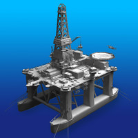 horizon oil rig 3d model