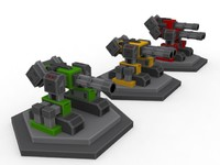 3d minigun turret model
