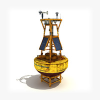 Meteorological buoy (low-poly).
