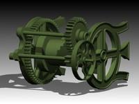 3d model winch gear