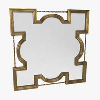 3d baroque mirror