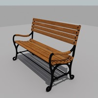 3d park bench