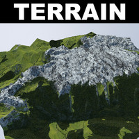 3d max terrain trees rocks