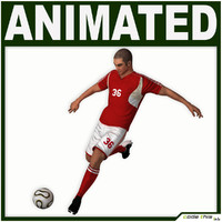 3d team soccer player cg model