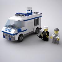 3d model lego police van