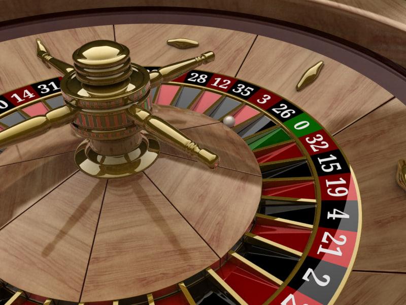 free roulette wheel 3d model