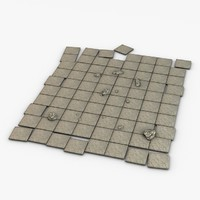 stone floor module 3ds