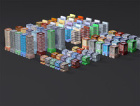 downtown buildings dxf