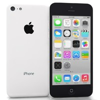 apple iphone 5c white 3d obj