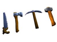 tools 4 1 axe 3d model