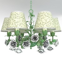 3dsmax chandelier roses