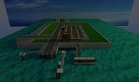 basic ferry harbour 3d model