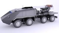 combat vehicle 3d model