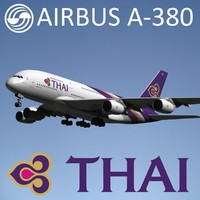 3d max airbus a380 thai airways