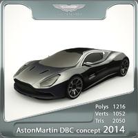 3d aston martin dbc 2014 model