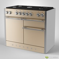 mercury gas range cooker 3d model